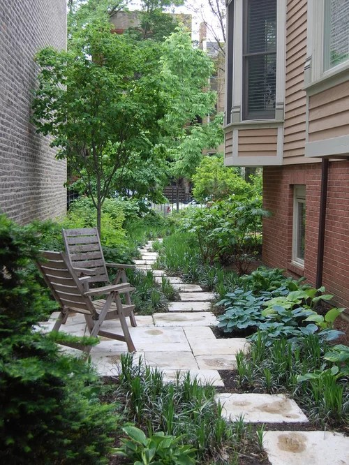Narrow Side Yard | Houzz on Narrow Backyard Landscaping Ideas  id=39124