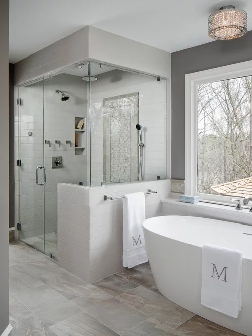 75 Trendy Master Bathroom Design Ideas - Pictures of ... on Master Bathroom Remodel Ideas  id=56730