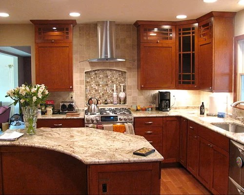 Granite Countertops Maple Cabinets | Houzz on Kitchen Countertops With Maple Cabinets  id=12833