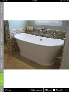 free standing tub with wall mount