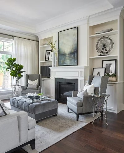 Transitional Living Room by Endless Ideas Interiors Inc.