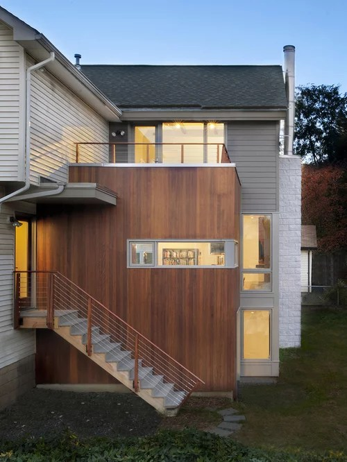 Vertical Siding Addition Design Ideas & Remodel Pictures ... on Contemporary Siding Ideas  id=83919