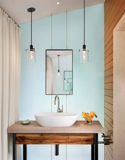 Contemporary Powder Room by Lake Flato Architects