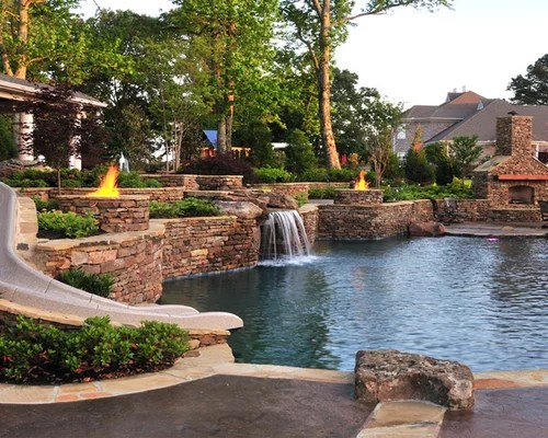 Sloped Backyard Ideas, Pictures, Remodel and Decor on Backyard With Slope Ideas  id=92313