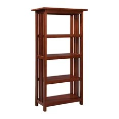 Alaterre Mission Bookcase in Cherry - 60