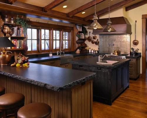 Chiseled Edge Granite Counter Tops Houzz