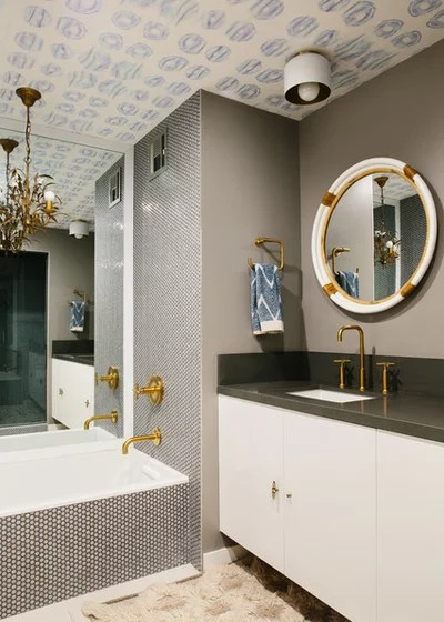 Contemporary Bathroom by Black Lacquer Design