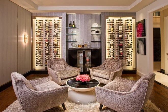 Contemporary Wine Cellar by Smith Firestone Associates