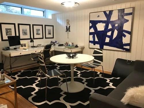 Teen basement bedroom now a chic interior design home office on Teenager Basement Bedroom  id=72112