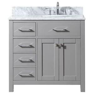 36 inch modern dark gray bathroom