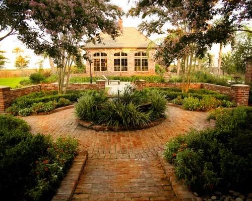 Brick Patio   Houzz on Houzz Backyard Patios  id=87794