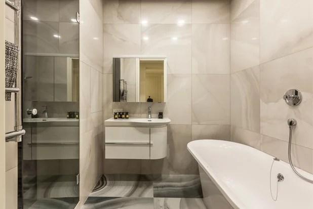 дизайн маленькой ванной комнаты без унитаза 7