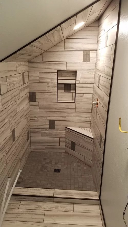 sloped ceiling shower curtain advice