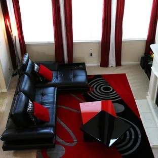 Red And Black Living Room Ideas Photos Houzz