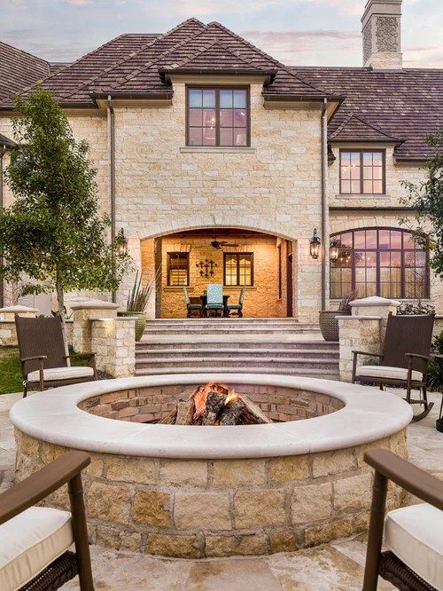 Stone Fire Pit | Houzz on Modern Boma Ideas id=97286