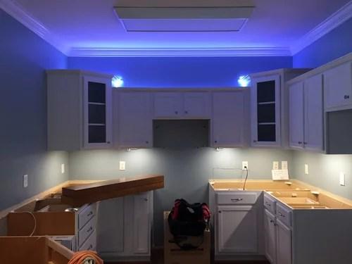 under over cabinet lighting gone wrong