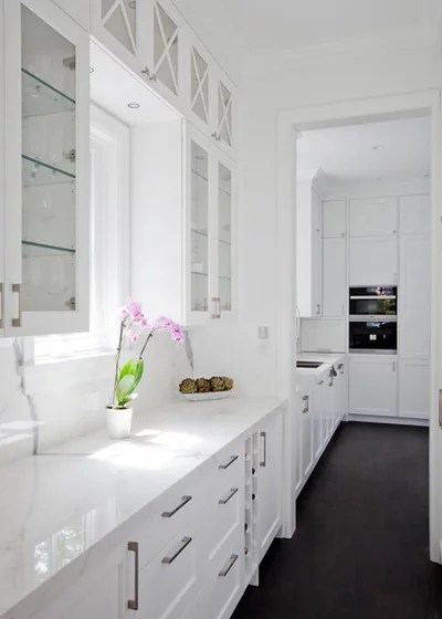 Transitional Kitchen by Devise Design