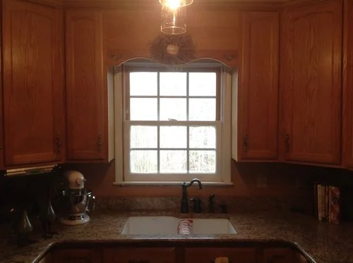 cabinets above the sink