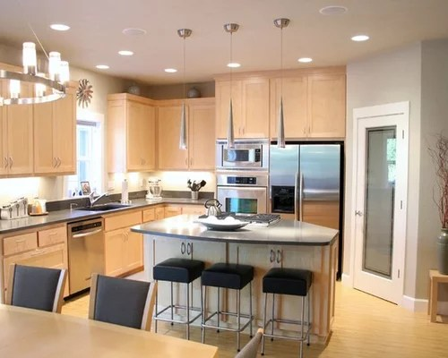 Light Maple Cabinets Design Ideas & Remodel Pictures | Houzz on Gray Countertops With Maple Cabinets  id=64311