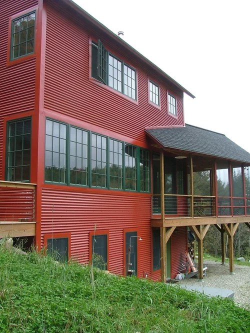 Metal Siding Home Design Ideas, Pictures, Remodel and Decor on Contemporary Siding Ideas  id=55029