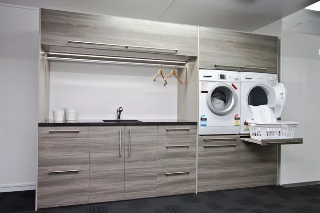 Contemporain Buanderie Ezy Kitchens showroom Invercargill