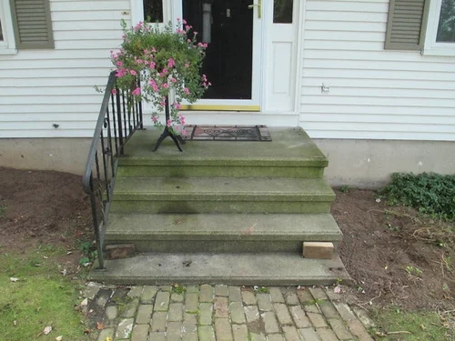 Covering A Concrete Stoop With Wood | Wood Deck Over Concrete Steps | Extension | Front | Back Deck | Cover Concrete | Solid Deck