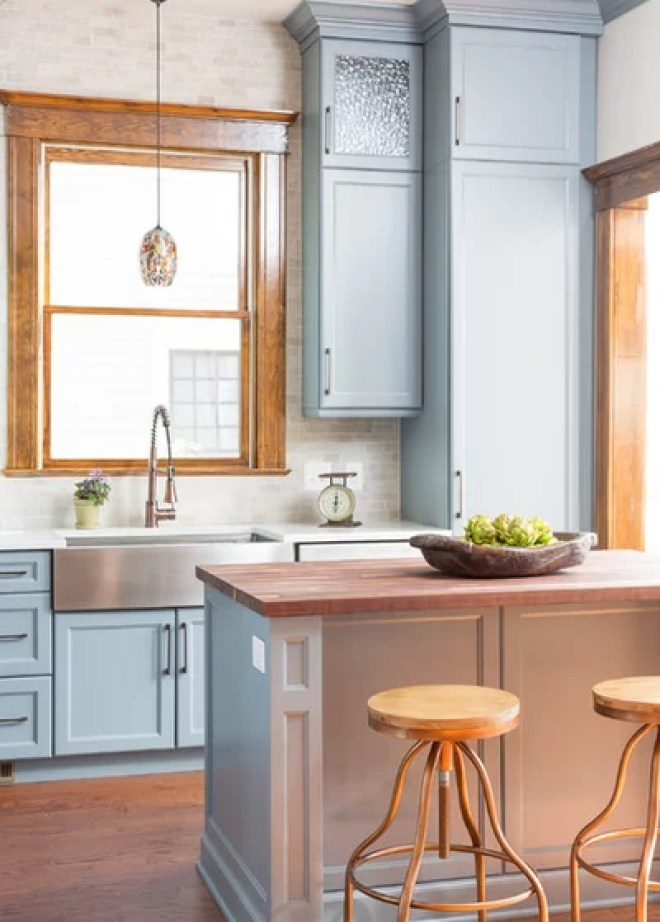 Transitional Kitchen by David Cannon Photography