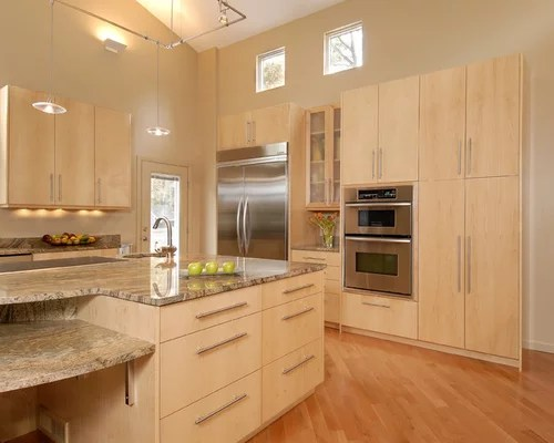 Natural Maple Cabinets | Houzz on Maple Cabinets  id=98318