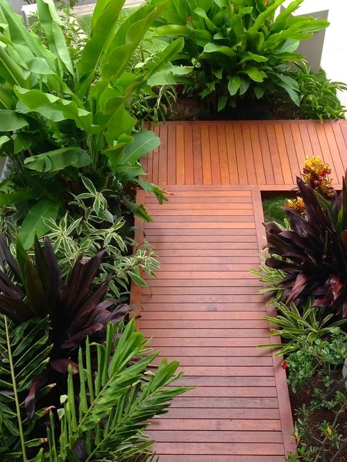 Tropical Front Yard Landscape Ideas, Designs, Remodels ... on Tropical Small Backyard Ideas id=62479