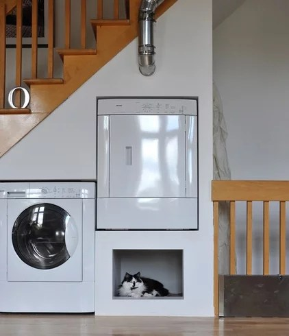 Eclectic Laundry Room by John Hannah Architectural Design & Rendering