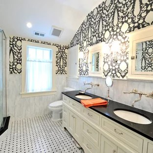 Black White Grey Granite Countertops Bathroom Ideas | Houzz on Bathroom Ideas With Black Granite Countertops  id=66461