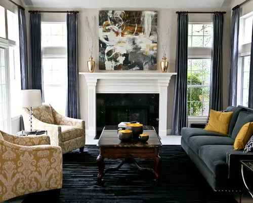 Transitional Living Room Home Design Ideas Pictures