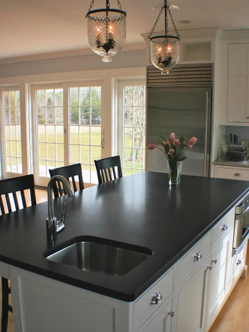 Absolute Black Honed Granite | Houzz on Black Granite Stain  id=83427