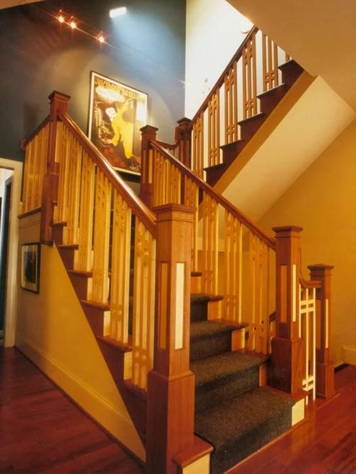 Craftsman Stair Railing Houzz | Craftsman Style Stair Railing
