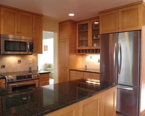 Granite Countertops Maple Cabinets | Houzz on Countertops With Maple Cabinets  id=79031
