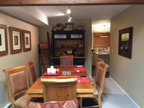 8 foot ceiling dining room