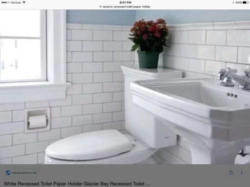 recessed porcelain ceramic toilet paper