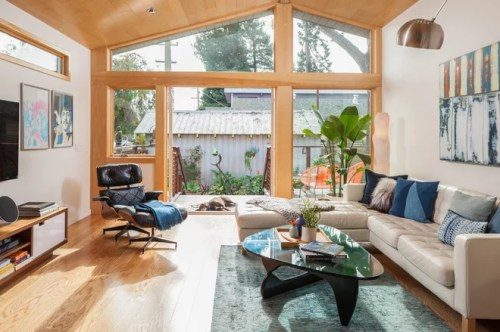 Contemporary Living Room by Visual Jill Interior Decorating