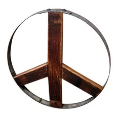 12 Inch Wood Peace Sign Wall Art Woodwearbyandrea Housewares