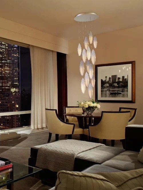 Contemporary Living Room Chandelier Modern Two Story