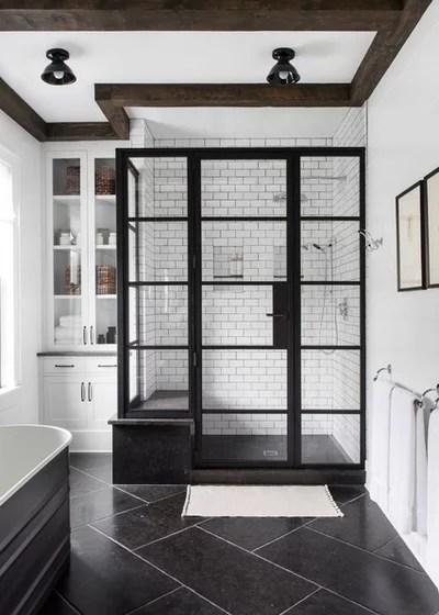 Farmhouse Bathroom by Chango & Co.