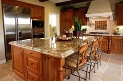 Granite Countertop to go with Maple Cabinet? on What Color Granite Goes With Honey Maple Cabinets  id=55375