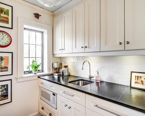 White Cabinets Tile Backsplash