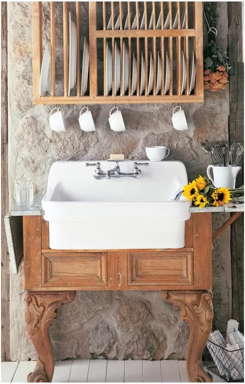 x22 wall mounted apron front sink
