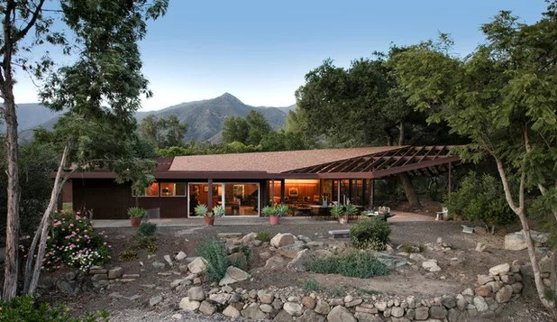 Midcentury Exterior by Allen Construction