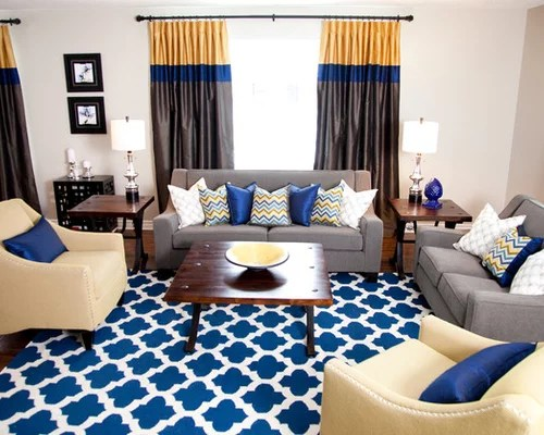 Blue Grey Yellow Home Design Ideas, Pictures, Remodel And