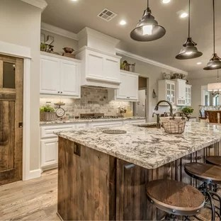 75 Most Popular Farmhouse Kitchen with Granite Countertops ... on Farmhouse Granite Countertops  id=59860