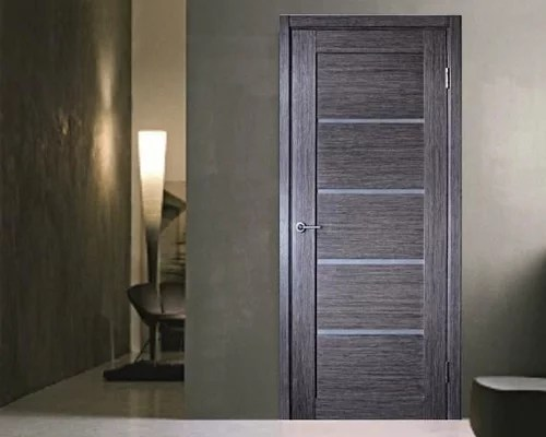 Venice Modern Interior Door Grey Oak Finish WFrosted Glass