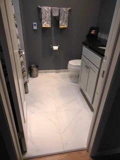 use 12x24 floor tiles in a small bathroom