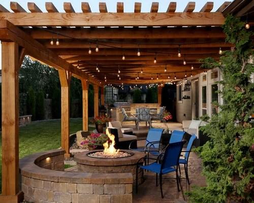 Backyard Patio Design Ideas, Remodels & Photos   Houzz on Houzz Backyard Patios  id=73145